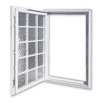 Acrylic Block Egress Window Open