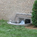 Well cover for the Modular Egress Well, dome shape ideal for windows that extend above the well.