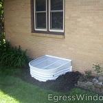 A basement is egress window code compliant with the Stif Back II kit.