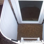 Top view of a complete egress system installed with the Stif Back II egress kit.
