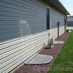Egress window requirements fulfilled with the Easy Egress Kit with optional well covers.